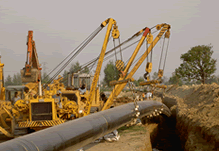 Cross Country Pipelines Laying